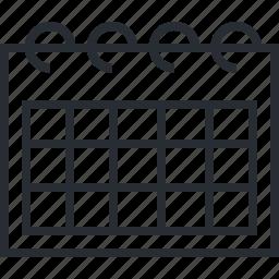 calendar, events, organizer, pixel icon, reminder, schedule, thin line icon