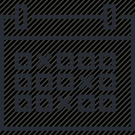 calendar, event, news, pixel icon, reminder, schedule, thin line icon