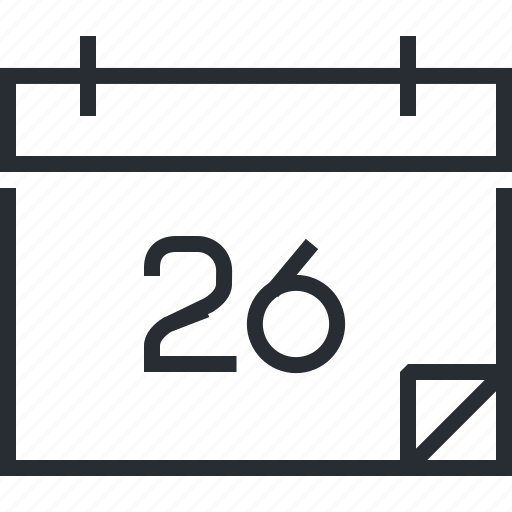 event, news, pixel icon, schedule, thin line, time and date icon
