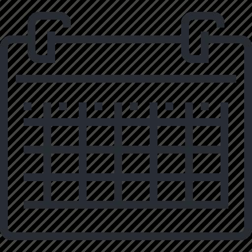 calendar, event, news, organizer, pixel icon, schedule, thin line icon