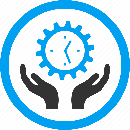 care hands, clock, maintenance, service tools, setup, time, timer icon