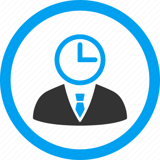 admin, clerk, clock, schedule, time manager, user, wait icon