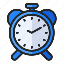 alarm, alert, bell, clock, notification, office, time icon