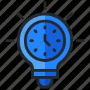 alarm, bulb, clock, creativity, idea, lamp, time