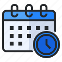 appointment, calendar, clock, date, deadline, schedule, time icon