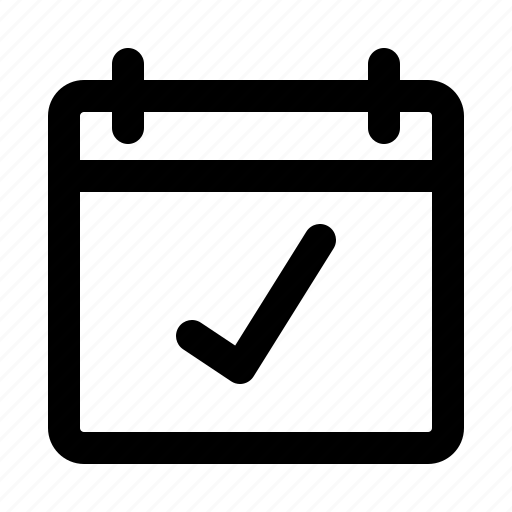 app, calendar, ceck, interface, software, ui, ux icon