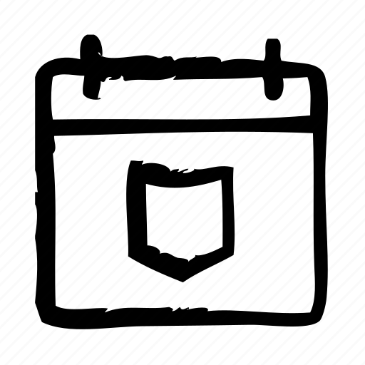 app, calendar, interface, protection, software, ui, ux icon