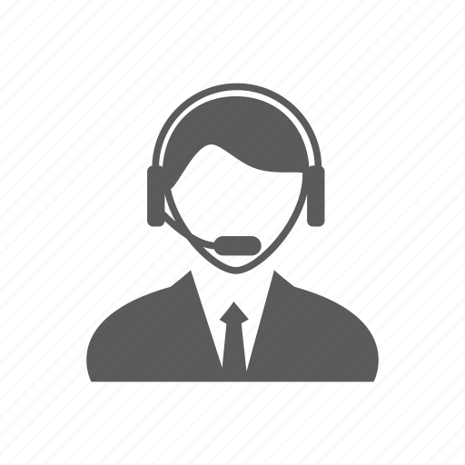 avatar, call center, headset, operator icon
