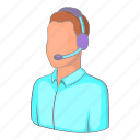 call, center, customer, illustration, isometric, man operator, operator icon