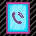 call, cartoon, center, customer, illustration, ipad, support icon