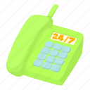 cartoon, communication, radio, radiotelephone, telephone icon