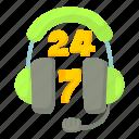 cartoon, green, headphone, headset, microphone, phone, support