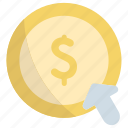 money, coin, click, payment, action