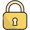 lock, protection, security, padlock, action