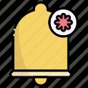 bell, alarm, notification, alert, action