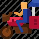 cambodia, delivery, driver, motorbike, transportation, tuk tuk, vehicle icon