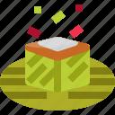 amok, banana, cambodia, cook, food, leaf, tradition icon