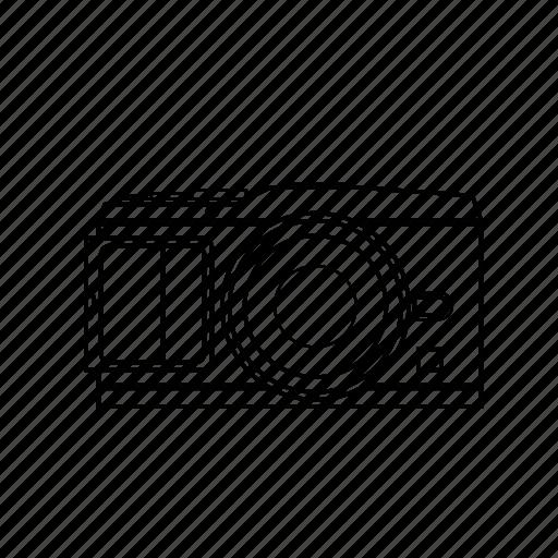 camera, digital, flash, image, lens, photography icon