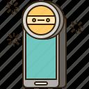 camera, equipment, flash, selfie, smartphone icon