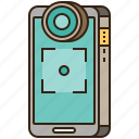 camera, equipment, front, photography, smartphone icon