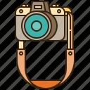 camera, equipment, photographer, photography, strap icon