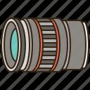 camera, equipment, len, photography, telephoto icon