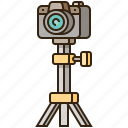 camera, equipment, photography, stand, tripod