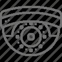 cctv, cctv camera, dome camera, monitoring camera, security camera icon