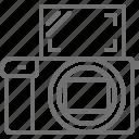 camera, flip, mirrorless, photography, screen icon