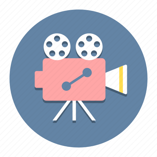cinema, film, movie, projector, recorder, shoot, theater icon