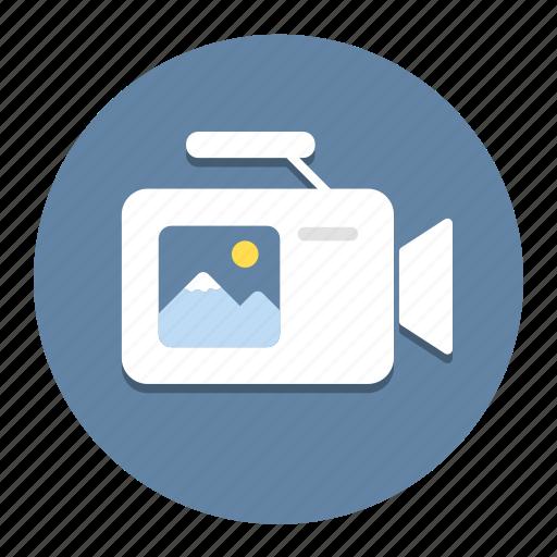 camcorder, camera, image, movie, recorder, video, videocamera icon