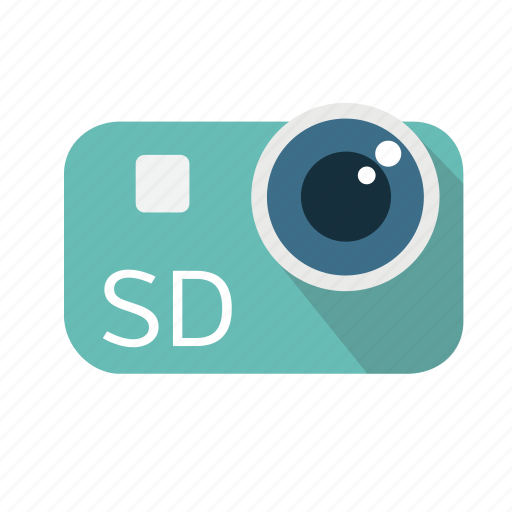 broadcasting, camera, lens, long shadow, material, standard definition, video icon