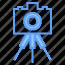 beauty, camera, digital, dslr, happy, photo, tripod icon