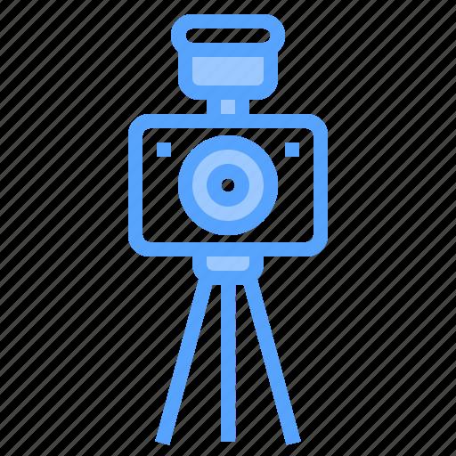 beauty, camera, digital, flash, happy, photo, tripod icon