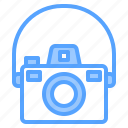 beauty, camera, digital, happy, mirrorless, photo, strap icon