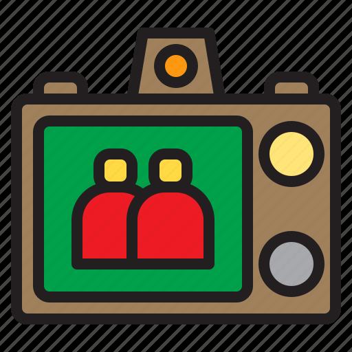 beauty, camera, digital, display, happy, photo, screen icon