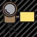 beauty, camera, digital, handy, happy, photo, tripod icon