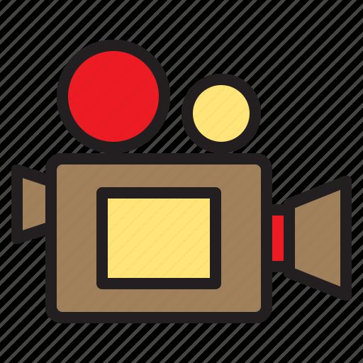 camera, digital, film, happy, photo, recorder, video icon