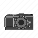 camera, digital, flash, image, lens, mirrorless, photography icon