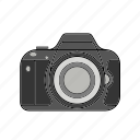 camera, capture, digital, dslr, flash, lens, photography icon