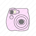capture, film, istant, photo, pink, polariod, selfie icon