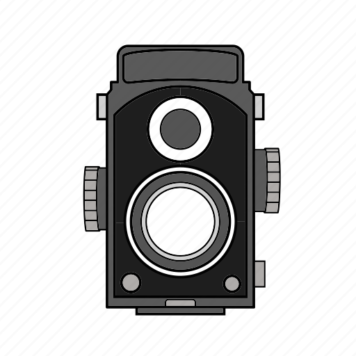 camera, film, lenses, photo, retro, two, vintage icon