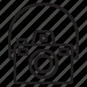 beauty, camera, digital, happy, mirrorless, photo, strap icon