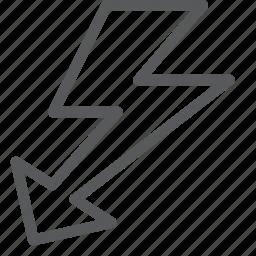 arrow, bolt, camera, flash, lightning, logo, photos, setting icon
