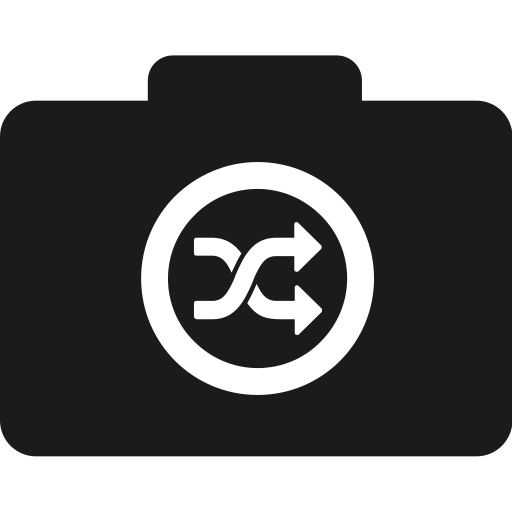 camera, difference, folder, random, randomize, shuffle icon