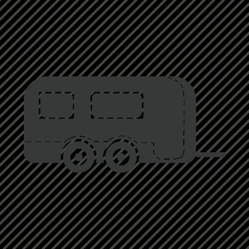 car, service, tourism, trailer, transport, travel, vehicle icon