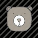animals, bear, camping, cs6, multicolor, outdoor icon