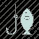 adventure, camping, cs6, fish, fishing, multicolor, outdoor icon