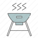 barbeque, bbq, camping, cs6, eat, food, multicolor, outdoor icon