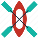 adventure, boat, canoe, kayak, kayaking, raft, sports icon